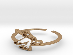 Bird Ring Design Ring Size 7 in Polished Brass
