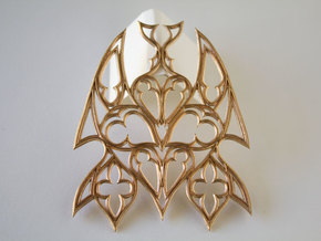 Gothic Bat Pendent in Natural Bronze