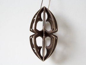 Gothic Acorn Pendent in Polished Bronze Steel