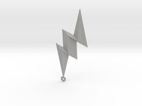 Lightning Bolt Pendant in Aluminum