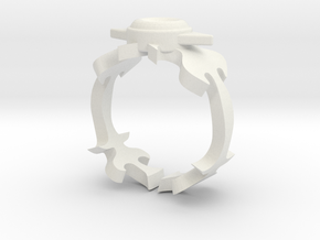 Fire Ring in White Strong & Flexible