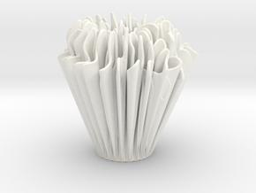 Exponential Growth Vase in White Processed Versatile Plastic
