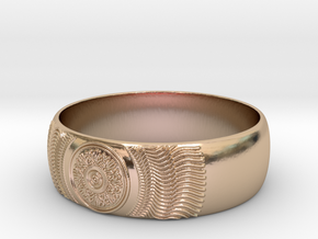 Martha - Ring in 14k Rose Gold Plated: 7.25 / 54.625