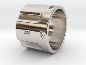 500 5-Shot Revolver Cylinder, Ring Size 12 in Platinum