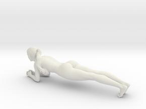 Long Ponytail Girl-041 in White Strong & Flexible