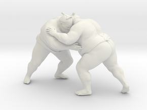 Japanese Sumo 016 in White Strong & Flexible: 1:10