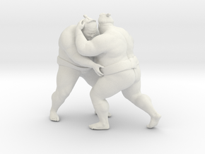 Japanese Sumo 017 in White Natural Versatile Plastic: 1:10