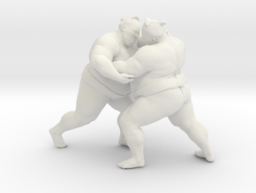 Japanese Sumo 019 in White Natural Versatile Plastic: 1:10