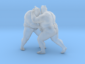 Japanese Sumo 017 in Smooth Fine Detail Plastic: 1:40