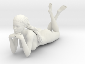 Long Ponytail Girl-060 in White Strong & Flexible