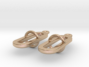 Pilme - Earrings in 14k Rose Gold Plated Brass