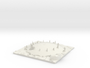 The O2 Arena Map, London UK in White Natural Versatile Plastic
