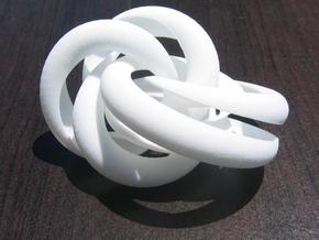 Hollow Knotted Gear in White Natural Versatile Plastic