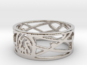 My Awesome Ring Design Ring Size 7 in Rhodium Plated Brass