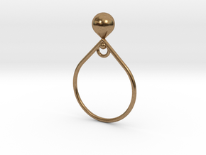 Anello  Griglia  in Natural Brass