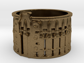 AK-47 Ak47 75 Round Drum, Ring Size 12 in Natural Bronze