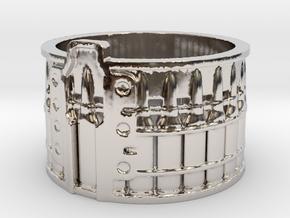 AK-47 Ak47 75 Round Drum, Ring Size 12 in Platinum