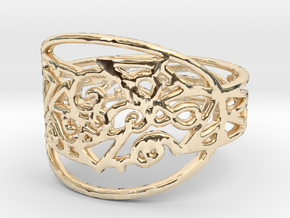 Freaky Ring Design Ring Size 7 in 14K Yellow Gold