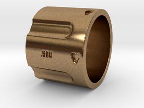 500 5-Shot Revolver Cylinder, Ring Size 10 in Natural Brass