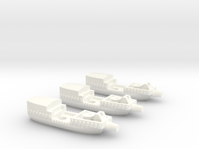 Fantasy Fleet Cutters in White Processed Versatile Plastic