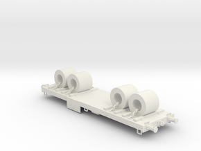 Flat wagon with load #2 in White Natural Versatile Plastic