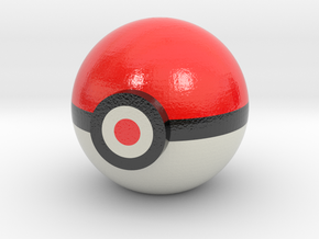 Pokeball Desktop Model in Glossy Full Color Sandstone