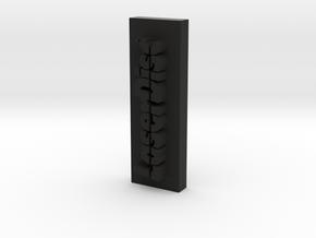 Laser Disc Sliced  in Black Natural Versatile Plastic
