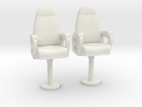 1/27 USN Capt Chair Set in White Natural Versatile Plastic