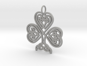 Celtic Shamrock Pendant Elegant Irish Charm in Aluminum