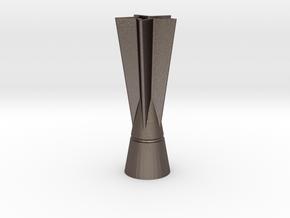 Miniature Heineken trophy F1 GP in Polished Bronzed-Silver Steel: 1:32