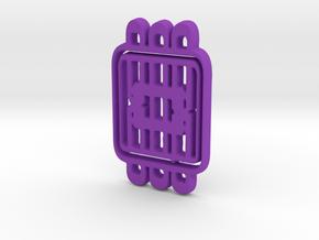 Cushioned square  in Purple Processed Versatile Plastic