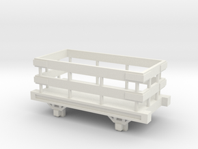 OO9 Narrow Gauge Slate Truck Talyllyn / SR in White Natural Versatile Plastic