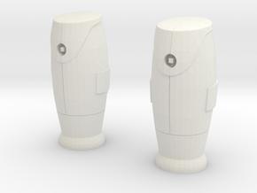 1/60 Bornes d'incendie / Fire hydrant X 2 in White Natural Versatile Plastic