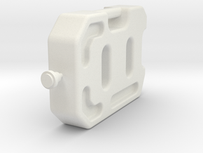 1/10 Scale 10 litre Jerry Can  in White Natural Versatile Plastic