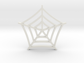 Cobweb Pendant in White Natural Versatile Plastic
