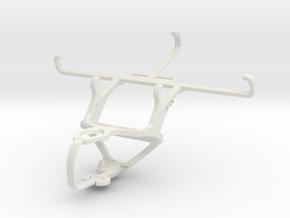 Controller mount for PS3 & Motorola Moto G5 in White Natural Versatile Plastic