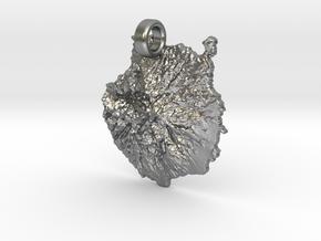 Colgante de Gran Canaria in Natural Silver