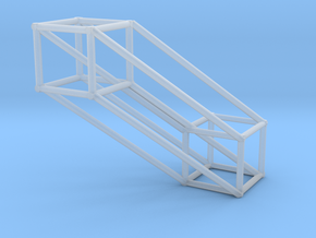Large 4D Hypercube in Smooth Fine Detail Plastic