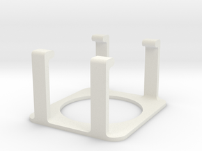 Coupler in White Natural Versatile Plastic