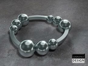 Ring - Orbit in Polished Bronzed Silver Steel
