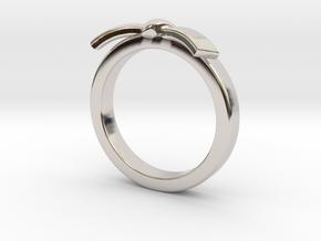 Martial Arts Belt Ring in Platinum: 6 / 51.5