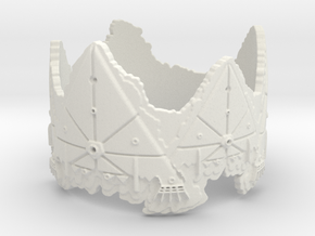 Cloud Ships 2, Ring Size 12 in White Natural Versatile Plastic