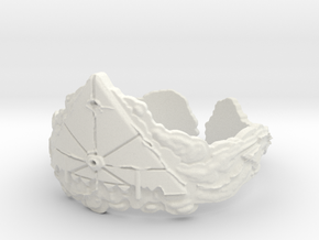 Cloud Ships Lightning, Ring Size 12 in White Natural Versatile Plastic