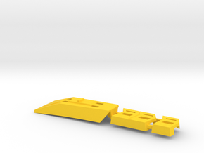 "Omega Supreme Leg Clips or ""Shields"".  A set of cl in Yellow Strong & Flexible Polished"