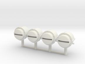 1:18 Bosch Lamp Lights for Panzer / Halftracks in White Natural Versatile Plastic