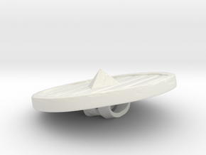 Woodenshield from Stonetowers in White Natural Versatile Plastic: Small