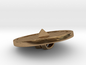 Woodenshield from Stonetowers in Natural Brass: Large