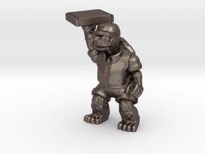 Day-Job Tortoise, Food Service (Sandstone) in Polished Bronzed Silver Steel