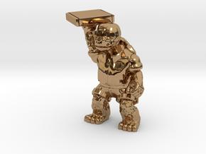 Day-Job Tortoise, Food Service (Sandstone) in Polished Brass