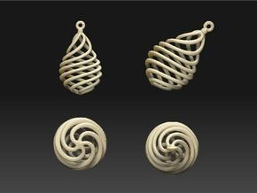 droplet earring-10 in White Strong & Flexible